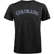 Majestic Threads Men's Colorado Rockies Black T-Shirt