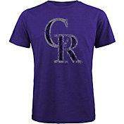 Majestic Threads Men's Colorado Rockies Purple T-Shirt