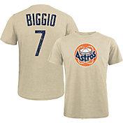 Majestic Threads Men's Houston Astros Craig Biggio #7 White T- Shirt