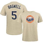 Majestic Threads Men's Houston Astros Jeff Bagwell #5 White T- Shirt