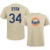 Majestic Threads Men's Texas Rangers Nolan Ryan White T- Shirt