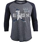 "Majestic Threads Men's New York Yankees Aaron Judge ""All Rise"" Navy Raglan Three-Quarter Shirt"