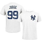 Majestic Threads Men's New York Yankees Aaron Judge White T- Shirt