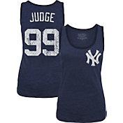 Majestic Threads Women's New York Yankees Aaron Judge Navy Tank Top