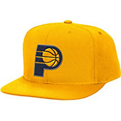 Mitchell & Ness Men's Indiana Pacers Wool Gold Adjustable Snapback Hat