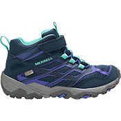 Merrell Kids' Moab FST Mid AC Waterproof Hiking Boots