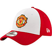 New Era Men's Manchester United White/Red Logo 39Thirty Stretch Fit Hat