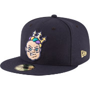 New Era Men's New Orleans Baby Cakes 59Fifty Navy Authentic Hat