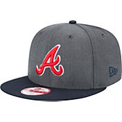 New Era Men's Atlanta Braves 9Fifty Grey Adjustable Hat