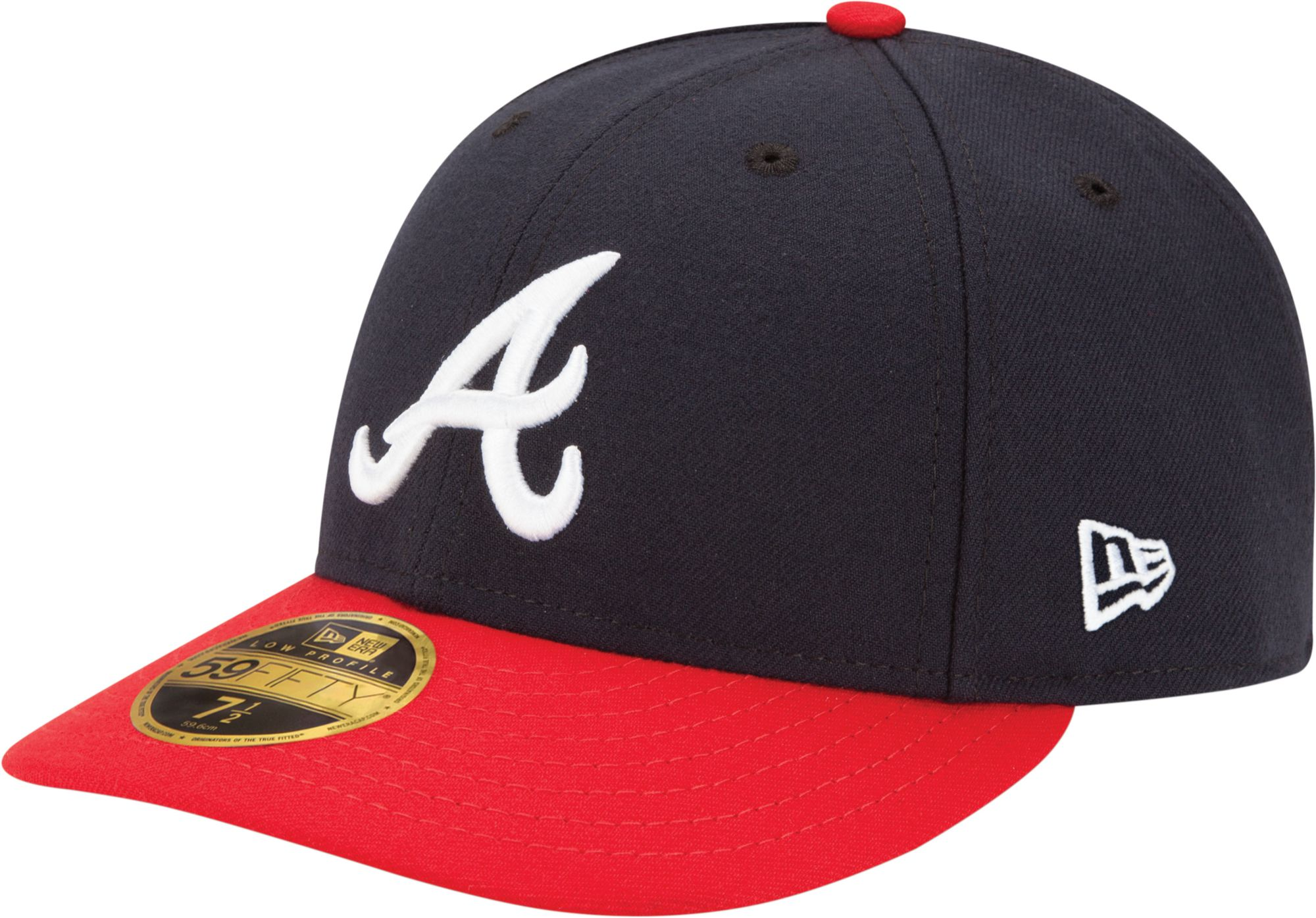 the best attitude bf2d3 f887f ... usa flex hat new era mens atlanta braves 59fifty home navy low crown  authentic hat f31b5