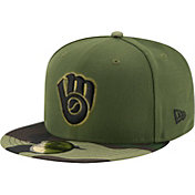 New Era Men's Milwaukee Brewers 59Fifty 2017 Memorial Day Camo Authentic Hat