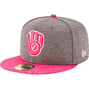 New Era Men's Milwaukee Brewers 59Fifty 2017 Mother's Day Authentic Hat