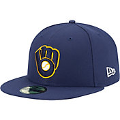 New Era Men's Milwaukee Brewers 59Fifty Alternate Navy Authentic Hat