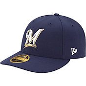 New Era Men's Milwaukee Brewers 59Fifty Game Navy Low Crown Authentic Hat