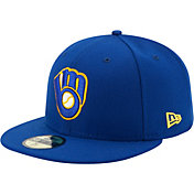 New Era Men's Milwaukee Brewers 59Fifty Alternate Royal Authentic Hat