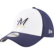 New Era Men's Milwaukee Brewers 39Thirty Diamond Era White/Navy Flex Hat
