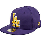 New Era Men's Los Angeles Dodgers 59Fifty City Pride Purple/Gold Fitted Hat