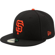 New Era Men's San Francisco Giants 59Fifty Game Black Authentic Hat