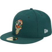 New Era Men's Greensboro Grasshoppers 59Fifty Green Authentic Hat