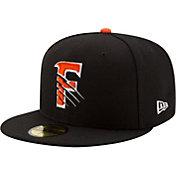 New Era Men's Fresno Grizzlies 59Fifty Black Authentic Hat