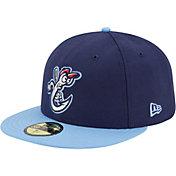 New Era Men's Corpus Christi Hooks 59Fifty Navy/Light Blue Authentic Hat