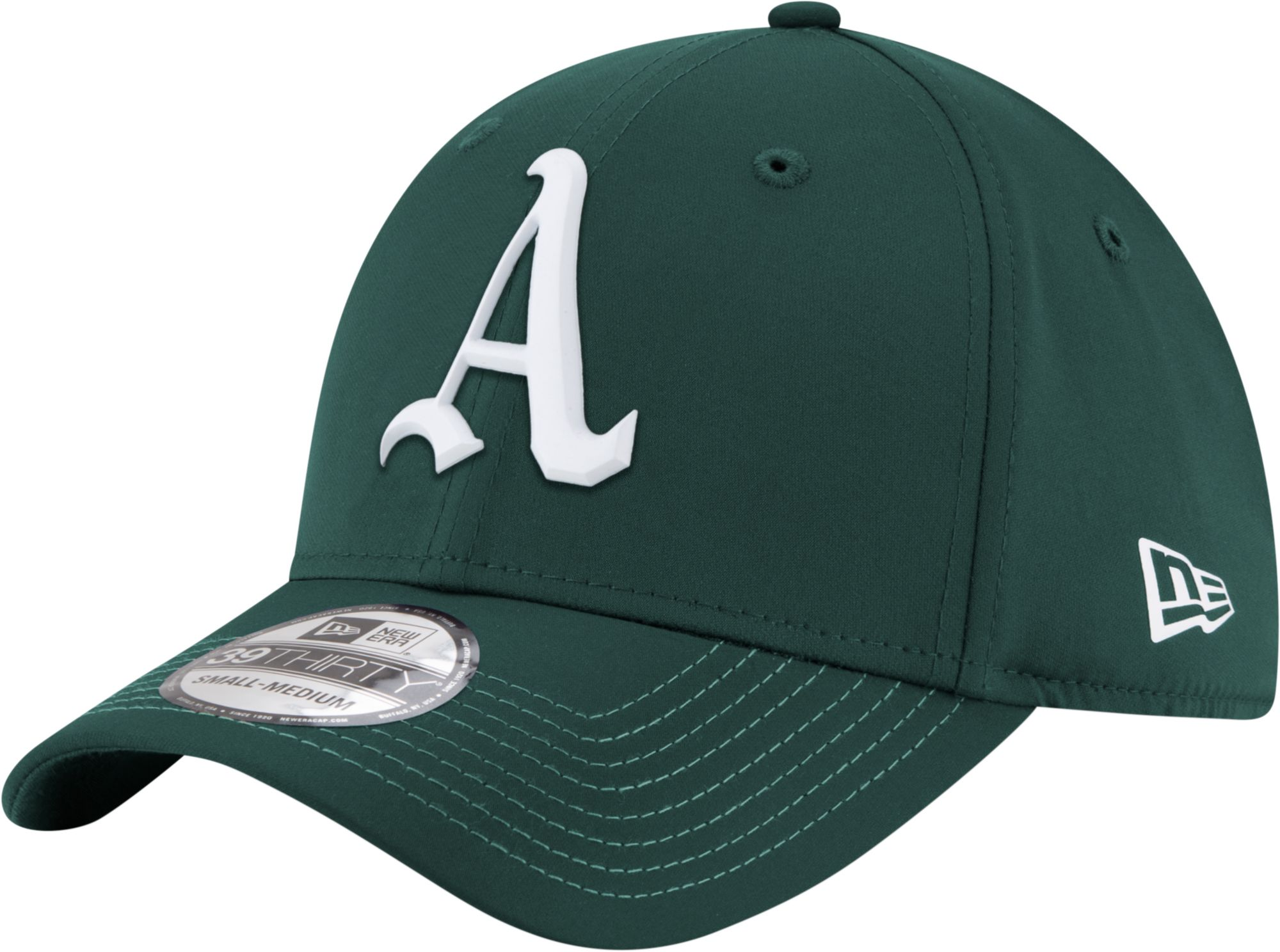 new era mens oakland athletics 39thirty prolight batting practice stretch fit hat dicks sporting goods