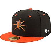 New Era Men's Frederick Keys 59Fifty Black/Orange Authentic Hat
