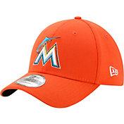 New Era Men's Miami Marlins 39Thirty Orange Flex Hat