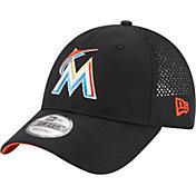 New Era Men's Miami Marlins 9Forty Perf Pivot Adjustable Hat