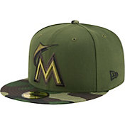 New Era Men's Miami Marlins 59Fifty 2017 Memorial Day Camo Authentic Hat