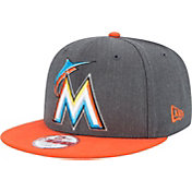New Era Men's Miami Marlins 9Fifty Grey Adjustable Hat