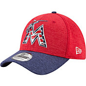 New Era Men's Miami Marlins 39Thirty 2017 July 4th Flex Hat