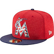 New Era Men's Miami Marlins 59Fifty 2017 July 4th Authentic Hat