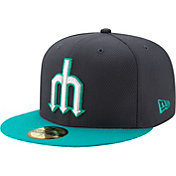 New Era Men's Seattle Mariners 59Fifty Diamond Era Navy Fitted Hat