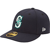 New Era Men's Seattle Mariners 59Fifty Game Navy Low Crown Authentic Hat