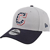 New Era Men's Cleveland Indians Americana 9Forty Grey Adjustable Hat