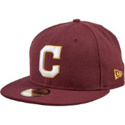New Era Men's Cleveland Indians 59Fifty City Pride Burgundy/White Fitted Hat