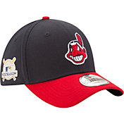 New Era Men's Cleveland Indians 39Thirty 2017 MLB Postseason Navy Stretch Fit Hat