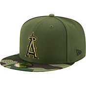 New Era Men's Los Angeles Angels 59Fifty 2017 Memorial Day Camo Authentic Hat