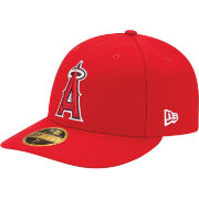 New Era Men's Los Angeles Angels 59Fifty Game Red Low Crown Authentic Hat