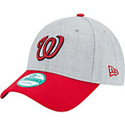 New Era Men's Washington Nationals 9Forty Grey Adjustable Hat