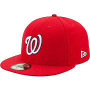 New Era Men's Washington Nationals 59Fifty Game Red Authentic Hat