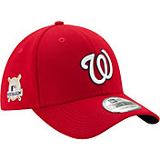 New Era Men's Washington Nationals 39Thirty 2017 MLB Postseason Red Stretch Fit Hat