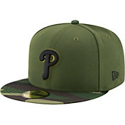 New Era Men's Philadelphia Phillies 59Fifty 2017 Memorial Day Camo Authentic Hat