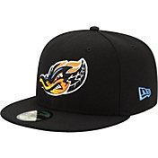 New Era Men's Akron RubberDucks 59Fifty Black Authentic Hat