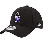 New Era Men's Colorado Rockies 9Forty Black Adjustable Hat