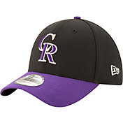 New Era Men's Colorado Rockies 39Thirty Classic Black Flex Hat
