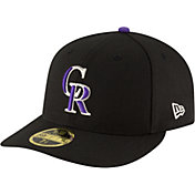 New Era Men's Colorado Rockies 59Fifty Game Black Low Crown Authentic Hat