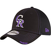 New Era Men's Colorado Rockies 39Thirty Black Neo Stretch Fit Hat