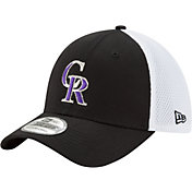 New Era Men's Colorado Rockies 39Thirty Black/White Flex Hat